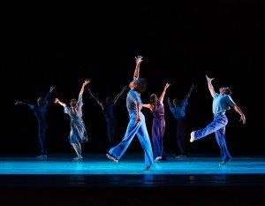 Alvin Ailey American Dance Theater in Jamar Roberts' Members Don't Get Weary, photo by Paul Kolnik