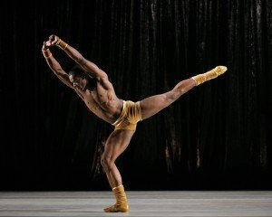 Jamar Roberts in Twyla Tharp's Teh Goldern Section, photo by Pail Kolnik