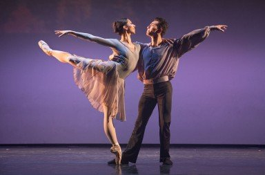 "Diablo Ballet dancers Amanda Farris and Felipe Leon  in Sally Street's ""Encores""   Photo by Bilha Sperling"