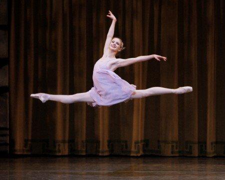 """New York City Ballet dancer Sterling Hyltin in Peter Martins's """"Romeo + Juliet"""" Photo by Paul Kolnik"""