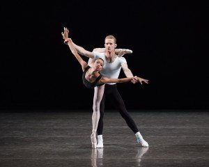 "New York City Ballet dancers Olivia Boisson and Lars Nelson in George Balanchine's ""The Four Temperaments"" Photo by Paul Kolnik"