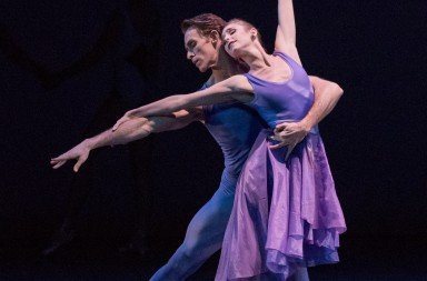 "New York City Ballet dancers Ashley Laracey and  Adrian Danchig-Waring in Peter Walker's ""dance odyssey""   Photo by Paul Kolnik"