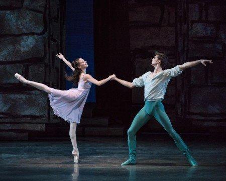 "New York City Ballet dancers Erica Pereira and Peter Walker in Peter Martins's ""Romeo + Juliet"" Photo by Paul Kolnik"