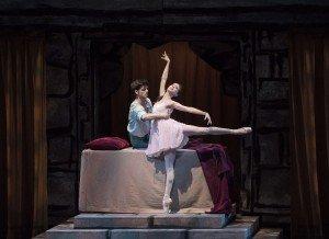 "Erica Pereira and Peter Walker in Peter Martins's ""Romeo + Juliet"" Photo by Paul Kolnik"