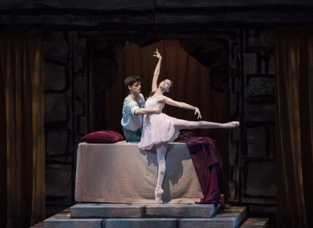 "New York City Ballet dancers Erica Pereira and Peter Walker in Peter Martins's ""Romeo + Juliet"" Photo by Paul Kolnik"