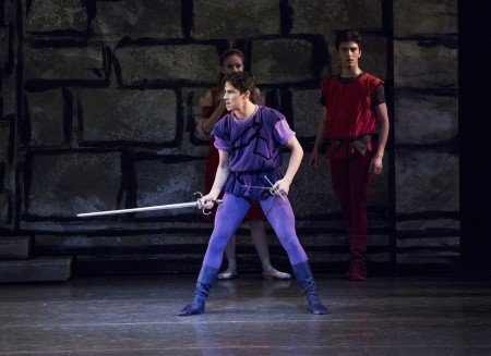 "New York City Ballet dancer Roman Mejia in Peter Martins's ""Romeo + Juliet"" Photo by Paul Kolnik"