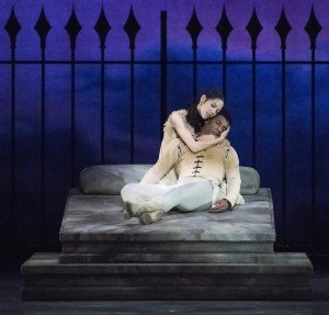 TWB's Gian Carlo Perez and EunWon Lee in John Cranko's Romeo & Juliet, photo by Gene Schiavone