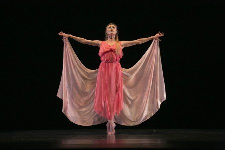 """Sara Mearns in Lori Belilove's staging of """"Dances of Isadora"""" Photo by Whitney Browne"""