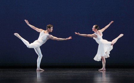 "Paul Taylor Dance Company members Sean Mahoney and Christina Lynch Markham in ""Aureole"" Photo by Paul B. Goode"