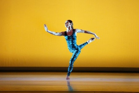 "Paul Taylor Dance Company member Heather McGinley in ""Concertiana"" Photo by Paul B. Goode"