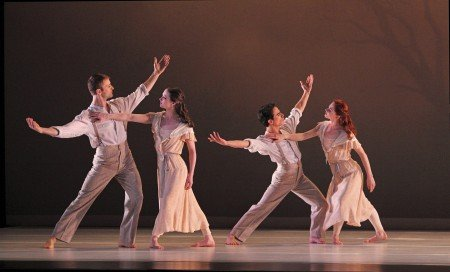 "Members of Paul Taylor Dance Company in ""Eventide"" Photo by Paul B. Goode"