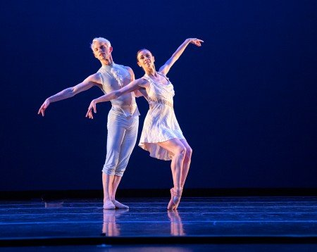 "Diablo Ballet dancers Jackie McConnell and Christian Squires in Trey McIntyre's ""The Blue Boy"" Photo by Bilha Sperling"