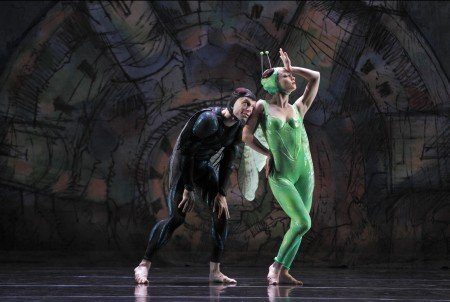 "Paul Taylor Dance Company dancers Laura Halzack and Michael Trusnovec in ""Gossamer Gallants"" Photo by Paul B. Goode"