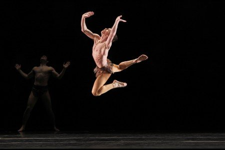 """Sean Mahoney and members of Paul Taylor Dance Company in """"Musical Offering"""" Photo by Paul B. Goode"""