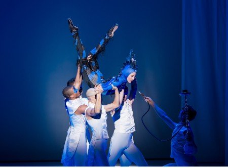 "Oregon Ballet Theatre dancer Emily Parker in Septime Webres ""Alice (in wonderland)"" Photo by Yi Yin"