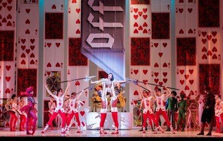 "Oregon Ballet Theatre dancers in Septime Webre's ""Alice (in wonderland)"" Photo by Jingzi Zhao"