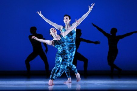 "Paul Taylor Dance Company dancers Christina Lynch Markham and Sean Mahoney in ""Concertiana"""