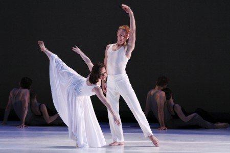 "Paul Taylor Dance Company dancers Eran Bugge and Michael Trusnovec in ""Roses"" Photo by Paul B. Goode"