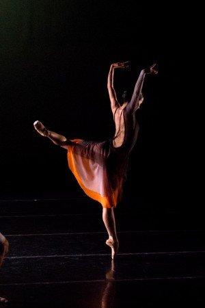 "Tulsa Ballet dancer Madalina Stoica in Helen Pickett's ""Meoal"" Photo by Francisco Estevez"