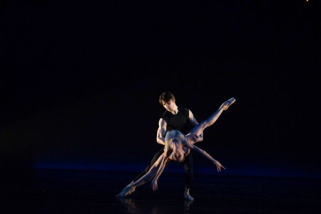"Tulsa Ballet dancers Cavan Conley and Madalina Stoica in Ma Cong's ""Glass Figures"" Photo by Luis Pons"