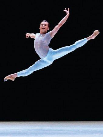 "Tulsa Ballet Soloist Rodrigo Hermesmeyer, here in David Dawson's ""A Million Kisses to My Skin"" Photo by Andrew Fassbender"