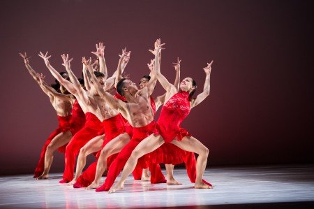 "Ballet Hispanico dancers in Annabelle Lopez Ochoa's ""Linea Recta"" Photo by Paula Lobo"