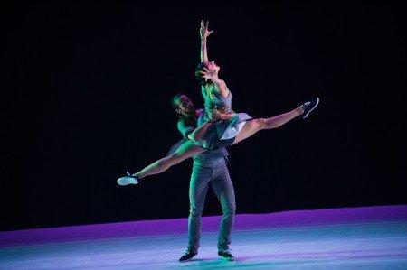 "Ballet Hispanico dancers Eila Valls and Lyvan Verdecia in Carlos Pons Guerra's ""Waiting for Pepe"" Photo by Paula Lobo"