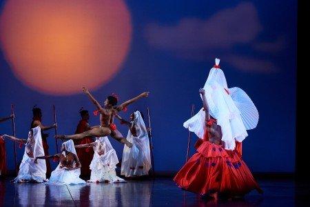 """Members of Dance Theatre of Harlem in Geoffrey Holder's """"Dougla"""" Photo by Rachel Neville"""