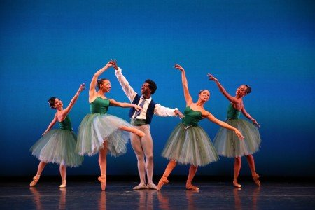 "Members of Dance Theatre of Harlem in George Balanchine's ""Valse Fantasie"" Photo by Dave Andrews"