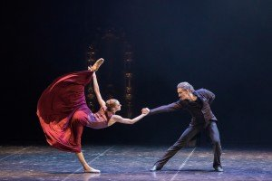 "Daria Reznik and Sergey Volobuev in Boris Eifman's ""Anna Karenina"" Photo by Evgeny Matveev"