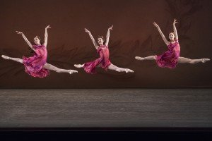 NYCB in Jerome Robbins's The Four Seasons, photo by Paul Kolnik