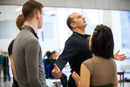 Pascal Rioult rehearsing members of RIOULT Dance NY Photo by Sofia Negron Courtesy of RIOULT Dance NY