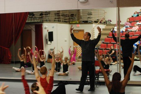 Pascal Rioult teaching at Grier School Photo courtesy of RIOULT Dance NY