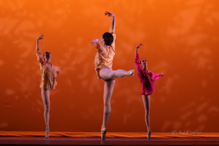 """(l-r) Shoshana Rosenfield, Evelyn Kocak, and Mary Elizabeth Sell in Tom Gold's """"Shanti"""" Photo by Ani Collier"""