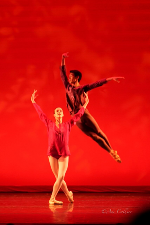 """Stephanie Williams and James Shee in Tom Gold's """"Shanti"""" Photo by Ani Collier"""