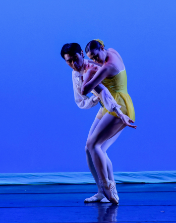 """Stephanie Williams and James Shee in Tom Gold's """"Charm"""" Photo by Eugene Gologursky"""