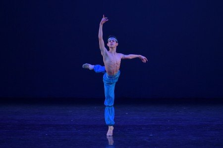 "Antonio Casalinho in a variation from ""Le Corsaire"" at the YAGP Gala Photo by VAM Productions"