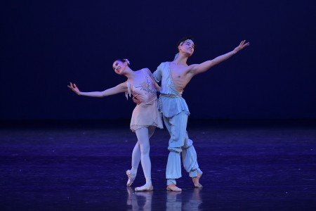 "Seonmee Park and Sangmin Lee in a pas de deux from ""Talisman"" at the YAGP Gala Photo by VAM Productions"