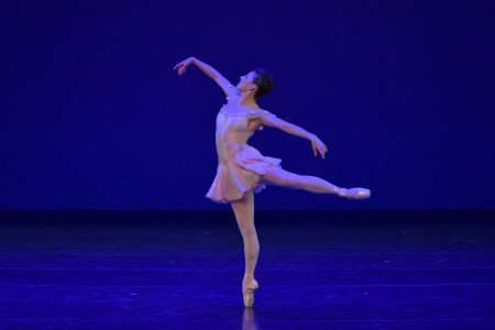 "Tiler Peck in the ""Fascinating Rhythm"" solo from George Balanchine's ""Who Cares"" at the YAGP Gala Photo by VAM Productions"