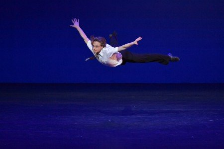 "Daniil Simkin in Ben Van Cauwenbergh's ""Les Bourgeois"" at the YAGP Gala Photo by VAM Productions"