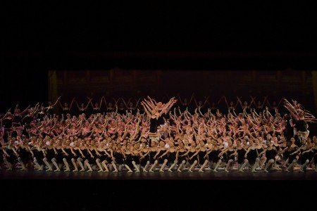"YAGP Finalists in the ""Grand Defile"" at the YAGP Gala Photo by VAM Productions"