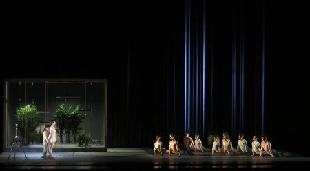 "American Ballet Theatre dancers in Wayne McGregor's ""AFTERITE"" Photo by Marty Sohl"