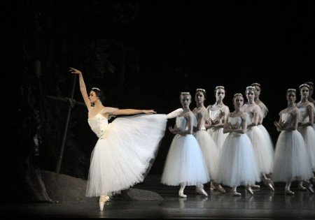 "Stephanie Williams as Zulma, with members of American Ballet Theatre in ""Giselle"" Photo by Gene Schiavone"