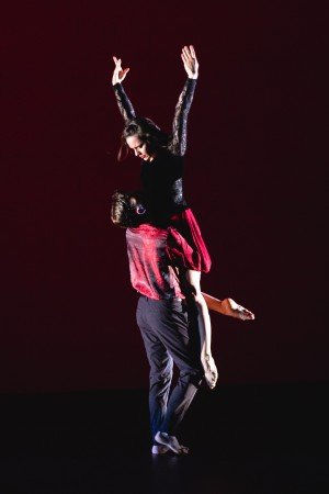 """Alyssa Wiedman and Chad Levy of Amy Marshall Dance Company in """"Ne Me Quitte Pas"""" Photo by David Gonsier"""