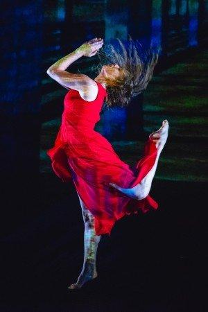 "Kristen Licata of Ariel Rivka Dance in Ariel Grossman's ""For Her"" Photo by David Gonsier"