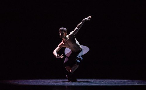 "Luca Curreli in Garrett Smith's ""Imitations"" Photo: Amitava Sarkar"