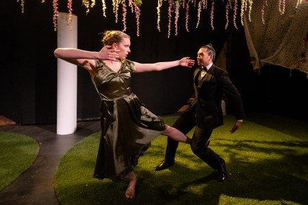 """Kellyn Thornburg and Calvin Tsang in Linked Dance Theatre's """"Beloved/Departed"""" Photo by Russ Rowland"""