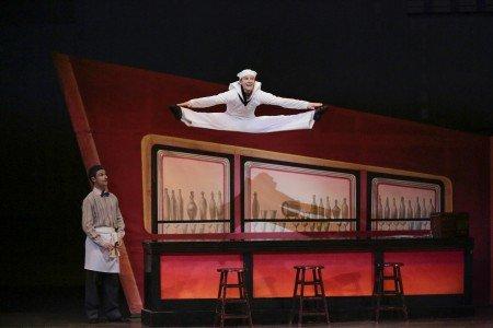 """Daniel Ulbricht in Jerome Robbins's """"Fancy Free"""" Photo by Paul Kolnik"""