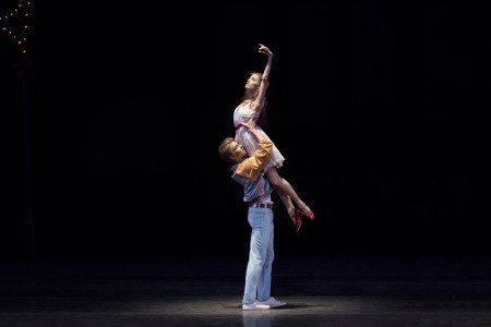 "Mimi Staker and Chase Finlay in Jerome Robbins's ""West Side Story Suite"" Photo by Paul Kolnik"