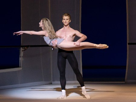 """Sterling Hyltin and Chase Finlay in Jerome Robbins's """"Afternoon of a Faun"""" Photo by Erin Baiano"""
